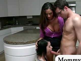 Stepmom Trains Teenage How To Suck And Fuck Her Boyfriends Dick