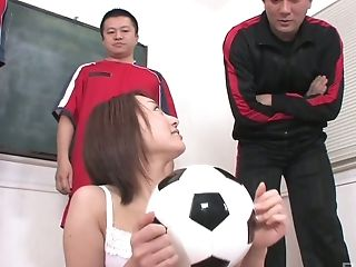 Lovely Japanese Football Aficionado Is Able To Work On A Few Spunk-pumps