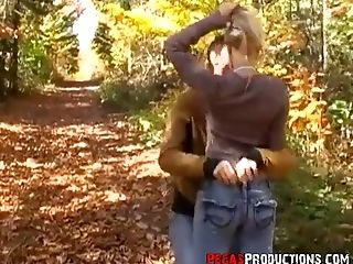 Crazy Fucky-fucky With Insane Canadian Gf Candy Smooch In The Forest