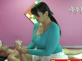 Curvy Asian Masseuse Makes Her Customer Glad