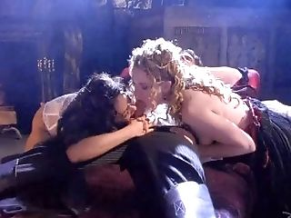 Honeys With Lengthy Curly Hair And Natural Tits In Mff Threesome