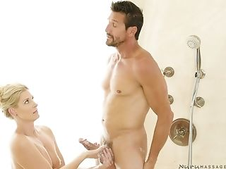 Oiled Stunner India Summer Gets Her Cootchie Massaged By A Fat Shaft