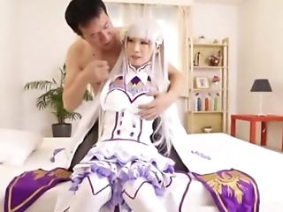 Japanese Costume Play With The Teenager Stunner Attempting Fresh Things