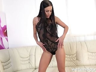 This Sexy Coed Loves Being Naked And She Loves Touching Her Beef Curtains