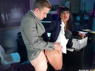 Supah Huge-boobed Dark Haired Valentina Is Astonished By Danny's Man-meat Size.