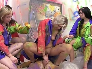Creating Art During Hard Pornography In Group Bi-curious Sexual Xxx Scenes