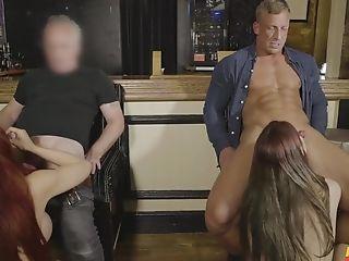 Sensational Fourway In Scenes Of Erotic Xxx Act
