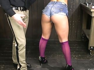 Perverted Pervert Is Playing Cooch Of Tied Up And Restrained Hooker Abella Danger