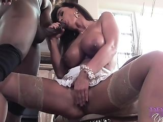 Interracial Fuck With Amazing Huge-boobed Adult Movie Star Mummy Lisa Ann - Cum Shot