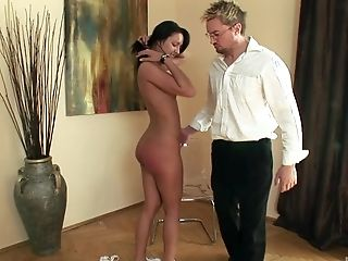 Super-naughty Debora Rush Likes Getting Her Round Butt Spanked