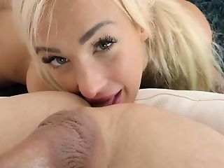 Ponytailed Auburn Czech Bombshell Daisy Lee Is Blessed To Rail Strong Lollipop On Top