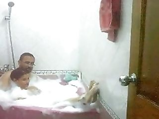 Desi Bhabhi Taking Bath With Hubby's Elder Brutha