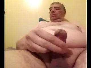 Grand-pa Stroke And Have Fun On Webcam