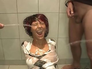 Horny Weird Hoe Pissed On