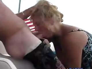 Inexperienced Blonde Sucking And Eating Boyfriends Sack Of Babymakers