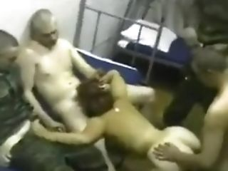 Russian Army Soldiers Gang-bang Orgy With Hooker