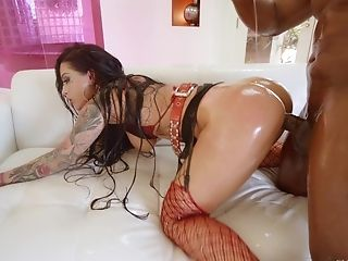 Oiled Sweetie Katrina Jade Likes Fucking With A Black Man Harshly