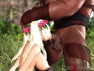 Teenage Cherry Chick Roller Gets Fucked By A Big Black Man Meat Outdoor