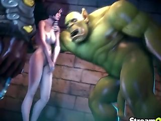 Different Elf Honeys And Big Dick Orcs Getting Down To Orgy Biz In The Game