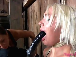 Dirty Dark Haired Tied Up Her Best Friend Sophie To Torment Her