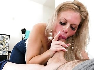 Russian Stepmom Casca Akashova Gives A Blow-job And Tit Banging Early In The Morning
