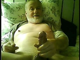 Grandfather Spunk On Webcam