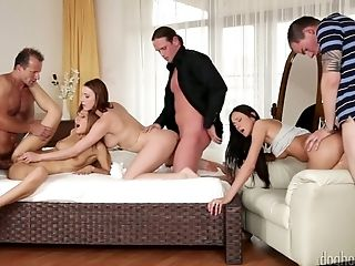 Hot Student Fuck-fest Orgy Arranged By Fuck-a-thon-thirsty Nymphomaniac Eveline Neill