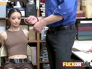 Slender Asian Teenager Rails Thick Milky Dick Inwards Inwards The Office