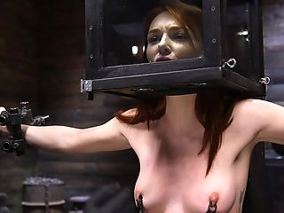Ginger Stunner Lacy Lennon Is Tied Up And Disciplined In The Dark Basement