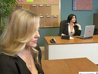 Amazing Office Superslut Julia Ann Has Memorable Ffm Threesome At Work
